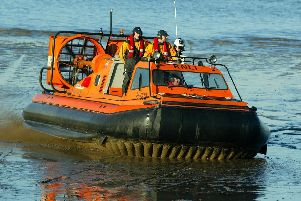 The Morecambe RNLI hovercraft