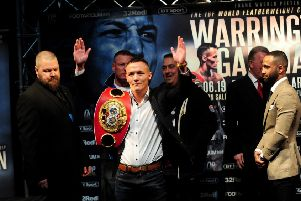 Josh Warrington v Kid Galahad.    Picture by Simon Hulme