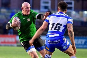 Richard Moore in action against former club Halifax during the 2019 Yorkshire Cup.