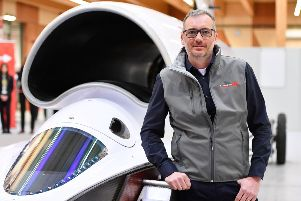 Ian Warhurst at the UK Land Speed Record Centre at the Berkeley Green College, Gloucester. Picture: SWNS