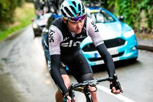 Chris Froome: Leads rebranded team at the Tour de Yorkshire.