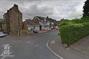 A man had two hit and run incidents within minutes of each other before dumping the stolen car and fleeing the scene in West Yorkshire.