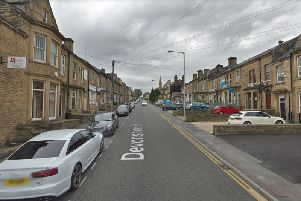 The incident took place on Devonshire Street in Keighley.'File photo