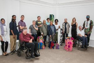 VISIT: Pyramid of Arts' Legends group for older people at Leeds Art Gallery. Picture: Mindy Goose.