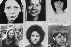 September 1979:  Six of the young women murdered by Peter Sutcliffe, known as the Yorkshire Ripper.  Top left to right; Vera Millward, Jayne MacDonald, Josephine Whittaker and bottom left to right; Jean Royle, Helga Rytka and Barbara Leach.  (Photo by Keystone/Getty Images)