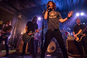 Coming to Harrogate Theatre - UK Foo Fighters leader Jay Apperley singing with the real Foo Fighters with Dave Grohl on guitar.