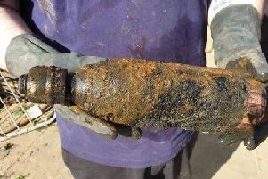 The magnet fishermen mistook the Boer War bomb for a gas canister