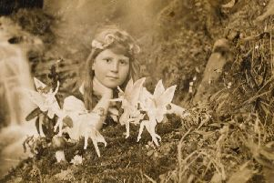 'Frances and the Fairy Ring' taken by Elsie Wright in 1917, part of the Cottingley Fairies hoax