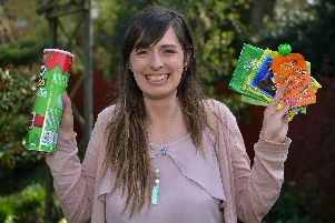 Alexandra Taylor, aged 27, collects plastics that councils don't collect