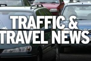 An accident is affecting traffic on the M1 in Derbyshire