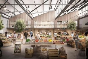 An artist's impression of the new artisan food hall