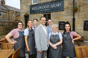 Wellwood Arms landlord Mark Rae and his team.