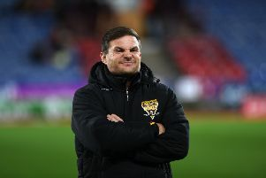 Huddersfield Giants head coach Simon Woolford.' Picture: Jonathan Gawthorpe
