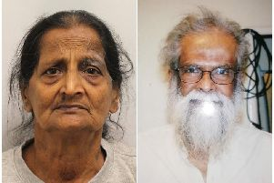 Packiam Ramanathan (left), who will be sentenced on Friday after being convicted of the manslaughter of her disabled husband Kanagusabi (right).