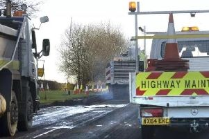 Previous roadworks on the A1 in Northumberland.