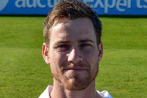 Derbyshire County Cricket Club, pictured is Luis Reece