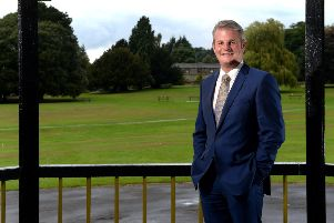 Stuart Andrew, Conservative MP for Pudsey, pictured in Horsforth Hall Park.'1 September 2017.  Picture Bruce Rollinson