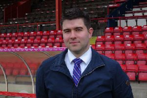York City Commercial manager Chris Pegg at Bootham Crescent.