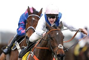 Waiting Patiently won last year's Grade One Ascot Chase under Brian Hughes for trainer Ruth Jefferson.