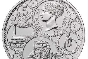 The new 5 coin featuring a young Queen Victoria