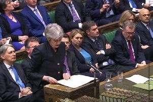 Prime Minister Theresa May speaks in the House of Commons. Credit: Commons/PA Wire