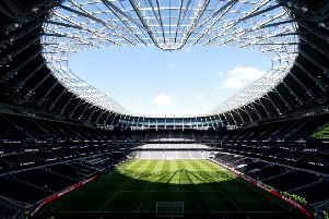 GRAND STAND VIEW: A general view of the new Tottenham Hotspur Stadium. Picture: Ian Walton/PA.