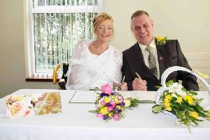Lorraine Chambers and Chris Davey married at St Catherines Hospice