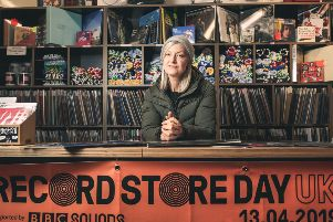 Mary Anne Hobbs broadcasting her show live from Jumbo Records in Leeds