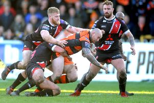 17 March 2019 ......  Castleford Tigers v  Salford Red Devils. Tigers Nathan Massey.  Picture Tony Johnson.