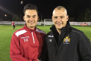 Blues boss Lee Ashworth (right) with Hyuga Tanner
