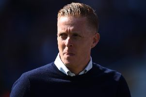 Garry Monk watches on against Derby.