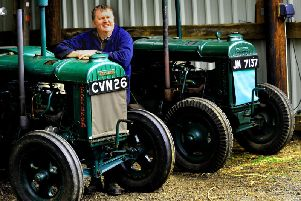 Alastair Broadwith of Rookwith with his Fordson N 1940 and 1942 vintage tractors. Picture by Gary Longbottom.