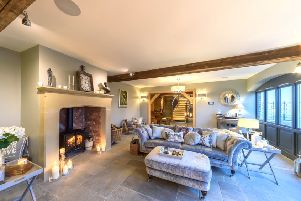 One of the barns is now a beautiful sitting room