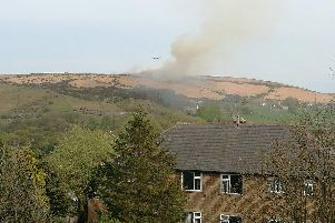 The fire at Deer Hill. (Photo: Katy Parry @reticentK).