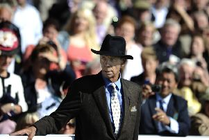 Sir Henry Cecil at York when Frankel won the 2012 Juddmonte International as the trainer battled cancer.