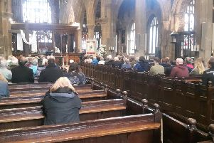 Rev Hilary Barber at Halifax Minster