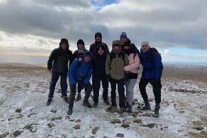 James Gillow, third from left, helped set up Leeds Rambling Society with his friends.