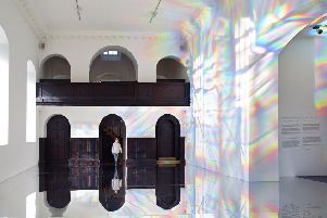 Kimsooja: To Breathe, in the Chapel at YSP. Picture: Mark Reeves