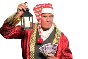 David Hasselhoff stars as Scrooge in Nottingham this Christmas