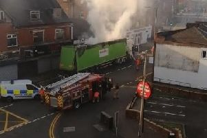 Police and fire at the scene of the incident