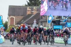 Photo of the Tour de Yorkshire Stage 2 in Beadle. On Sunday the cyclists will be in Leeds leading to road closures across the city.