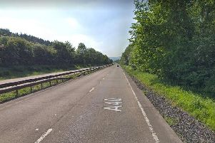 The A40 between Raglan and Abergavenny