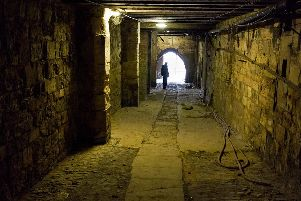 Commonhall Lane, a Medieval passage that runs beneath York Guildhall. Photo: York Archaeological Trust