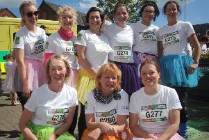 Garstang Colour Dash.'Garstang district nurses.  PIC BY ROB LOCK'12-5-2019