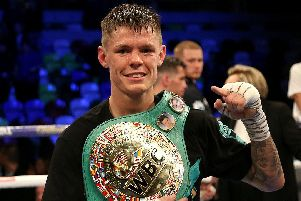 Boxing champ Charlie Edwards. Photo: Paul Harding/PA Wire.
