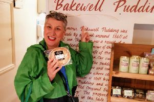 Karen in the Old Original Bakewell Pudding Shop