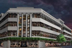 Artist's impression of House of Fraser in Hull - to be renamed 1 Paragon Square