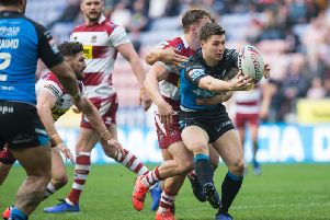 Hull FC's Jamie Shaul in action at Wigan earlier this season. (SWPix)