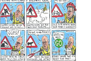 Chris Grayling's Highway Code - according to cartoonist Graeme Bandeira.