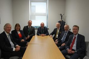 North Lincs cabinet members from the Isle with council leader Rob Waltham
